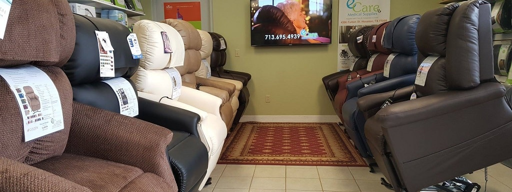 Try Our Top Recliner Lift Chairs In Our Showroom