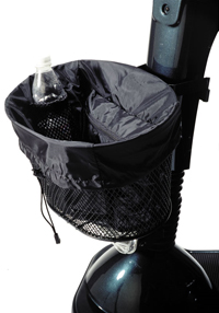Scooter Basket Nylon With Adjustable Drawstring