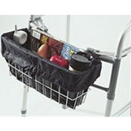 Walker Basket Liner With Handy Zippered Pocket