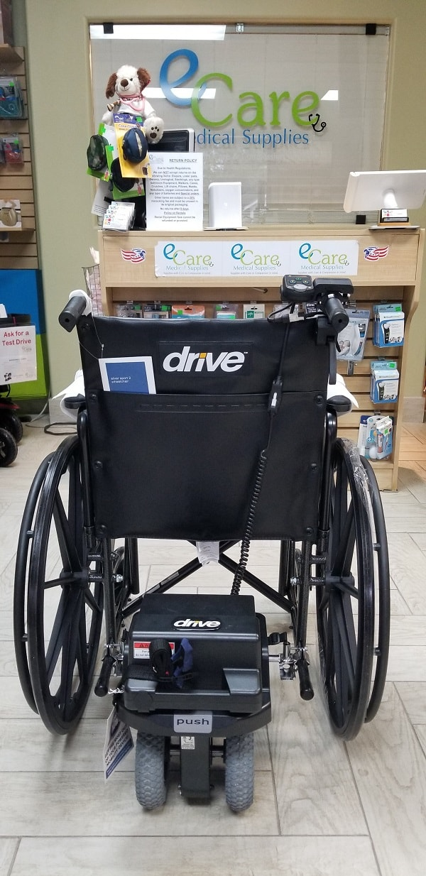 Power Assist Device Powerstroll S-Drive for Wheelchairs - 400 Lb