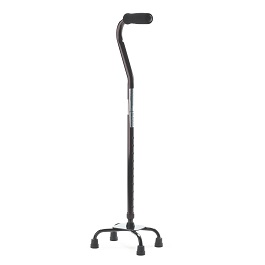 Aluminum Quad Cane with Small Base-300 Lbs Capacity
