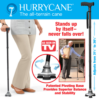 Hurrycane Freedom Edition Aluminum Cane - 350 Lbs Capacity in Houston TX by Hurrycane