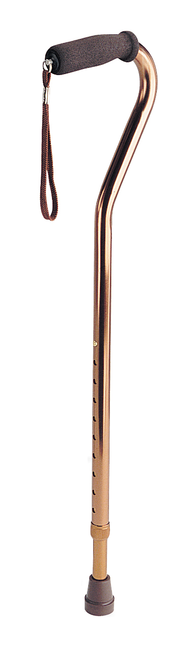 Offset Handle Fashion Cane Bronze