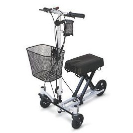 Zero Turn Radius Knee Scooter With Basket-300 Lbs Capacity