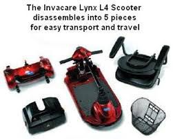Invacare Lynx Scooter Disassembled