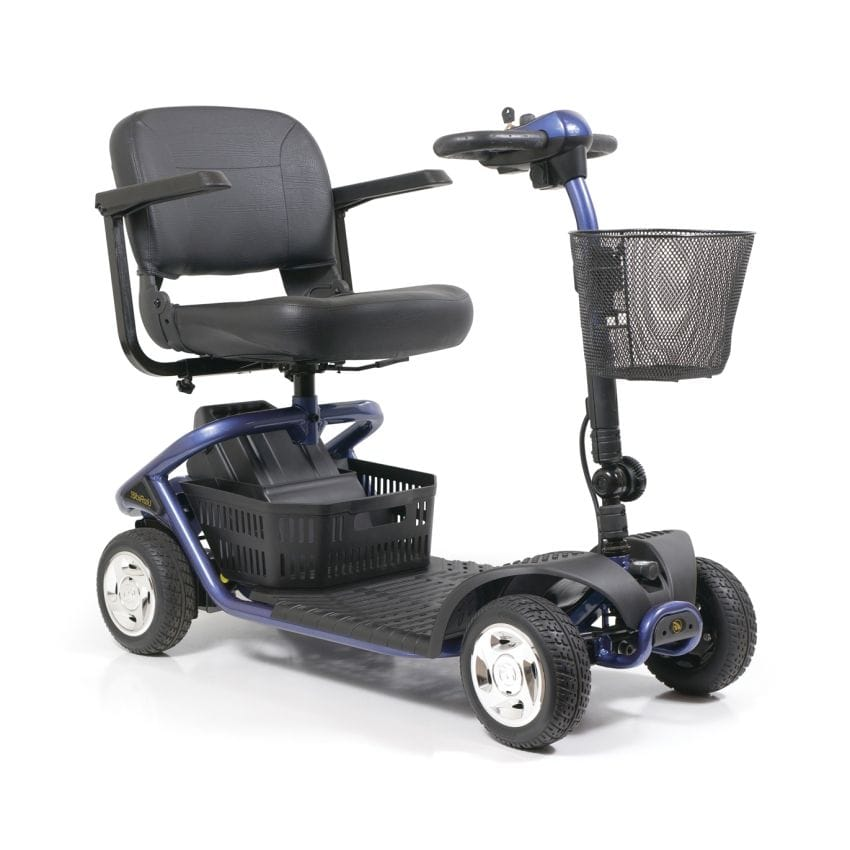 BuzzAround XL Compact Travel Power Scooter 4-Wheel