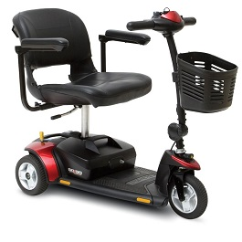 Go Go Elite Traveller Power Scooter 3 Wheel-300 Lbs Cap.