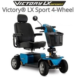 Victory 10 LX Sport With CTS Suspension   400 Lb Cap in Houston TX by Pride Mobility