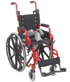 "12"" X 12"" Wallaby Pediatric Folding Wheelchair-150 Lbs Capacity"