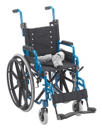 "14"" X 12"" Wallaby Pediatric Folding Wheelchair-150 Lbs Capacity"