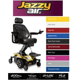 Portable Atlante Sport Power Wheelchair - 300 Lb Cap