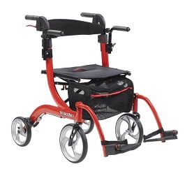 Nitro Duet Rollator  Transport Chair   300 Lb Cap by Drive Medical