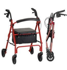 Rollator Vibe 6 Inches Wheels Economy Rollating Walker 300 Lbs Cap in Houston TX by Nova