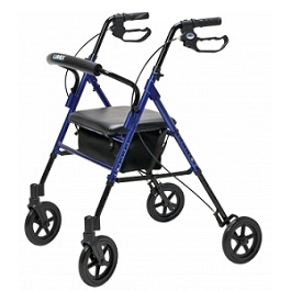 Lumex Set N Go Wide Height Adjustable Rollator-350 Lbs Capacity