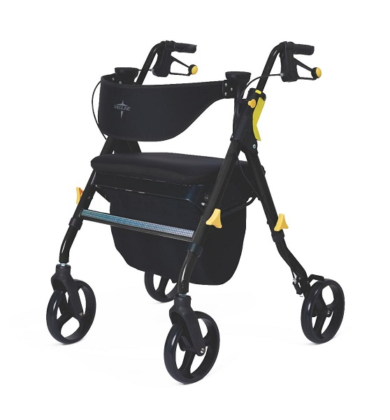 Empower Adjustable Rollator & Walker With Memory Seat