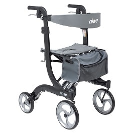 Nitro Euro Style Walker Rollator Black   300 Lbs Cap in Houston TX by Drive Medical