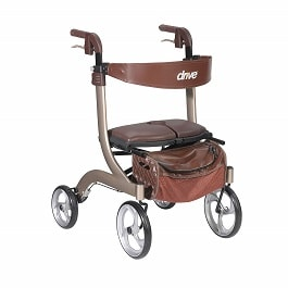 Nitro DLX Euro Style Walker Rollator Champagne in Houston TX by Drive Medical