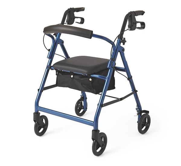 "Lightweight Rollator 6"" Wheels Rollating Walker Blue"