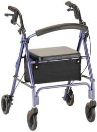 Rollator Vibe 6 Economy Rollating Walkern Blue