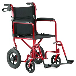 19 Wide Aluminum Lightweight Transport Chair-300 Lbs Cap. in Houston TX by Invacare