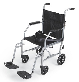 "19"" Wide Portable Transport Chair-300 Lbs Cap."