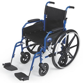 "18"" Wide Hybrid 2 Transport Chair & Wheelchair-300 Lbs Cap."