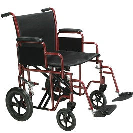 22 Wide Bariatric Transport Chair-450 Lbs Cap. in Houston TX by Drive Medical