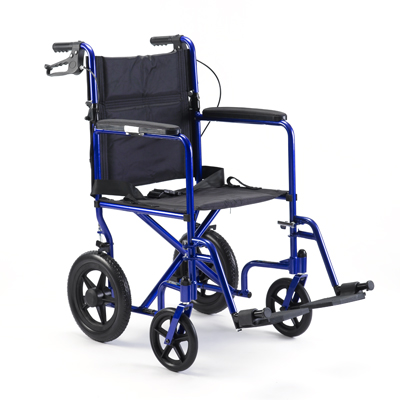 Blue Light Aluminum Weight Transport Chair