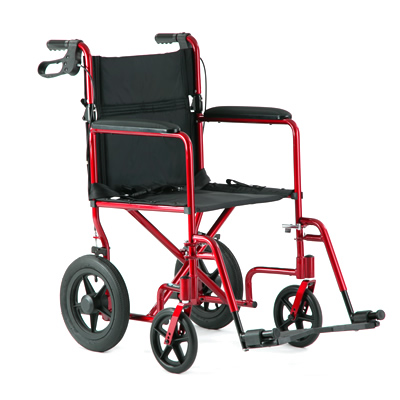 Red Light Aluminum Weight Transport Chair