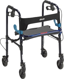 "Light Weight Adult Walker w/ 5"" Casters-300 Lbs Capacity"
