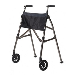 EZ Fold and Go Walker Folding Metro Walker-400 lbs Cap