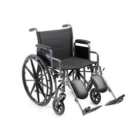 "18"" Full Lenght Permanent Arm & Footrest Wheelchair-250 Lbs Cap"