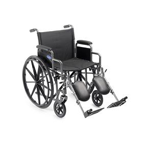"18"" Removable Arm & Elevating Legrest Wheelchair-250 Lbs Cap"