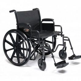 20 Inches Traveler HD Bariatric Wheelchair w Footrest 500 Lbs Cap by Everest and Jennings GF
