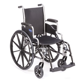"18"" Veranda Lightweight Wheelchair w/ Footrest-300 Lbs Cap"