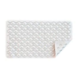 Nova Ortho-Med Bath Mat with Suction Grip White