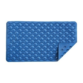 Nova Ortho-Med Bath Mat with Suction Grip Blue