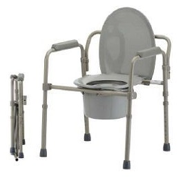 Lumex 3 In 1 Steel Folding Commode - 300 Lbs Capacity