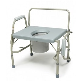 Bariatric Heavy Duty 3 In 1 Drop Arm Commode - 600 Lbs Cap