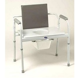 Extra Wide Bariatric Commode Chair   650 Lbs Capacity in Houston TX by Invacare