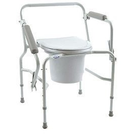 16 Inches Wide Seat Drop Arm Bedside Commode 250 Lbs Capacity in Houston TX by Invacare