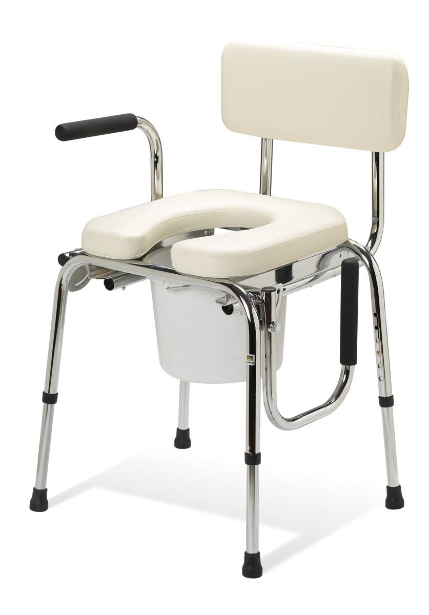Medline Guardian Padded Commode with  Drop Arm
