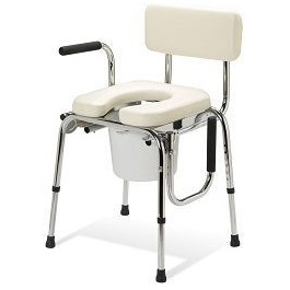 Drop Arm Bath Padded Commode - 350 Lbs Capacity