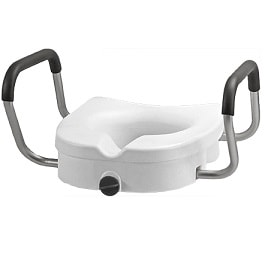 "5"" Raised Toilet Seat With Arms - 300 Lbs Cap."