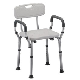 Shower Chair Bath Seat - Arms - Back - 275 Lbs Capacity in Houston TX by Nova