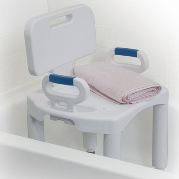 Premium Series Shower Chair With Back & Arms - 350 Lbs Capacity
