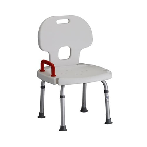 Shower Chair Bath Bench w/ Back & Safety Handle - 300 Lbs Cap