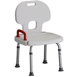 Shower Chair Bath Bench w Back and Safety Hle   300 Lbs Cap by Nova