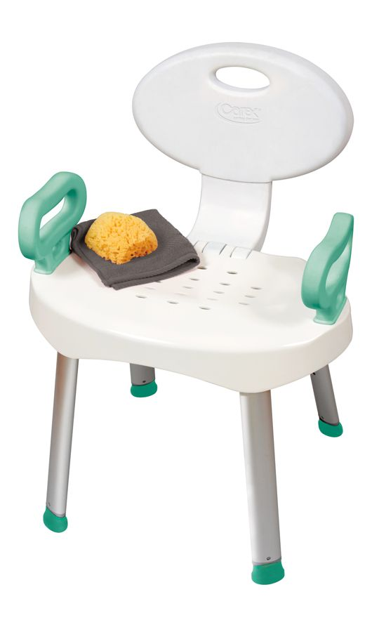 EZ Bath Bench and Shower Chair with Handles