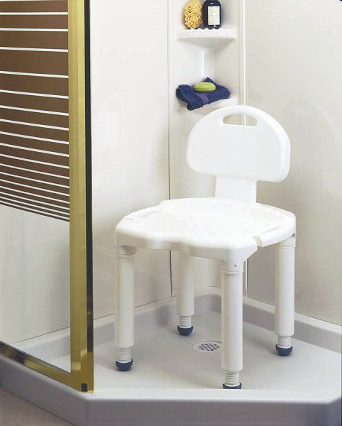 Shower and Bath Seat with Back